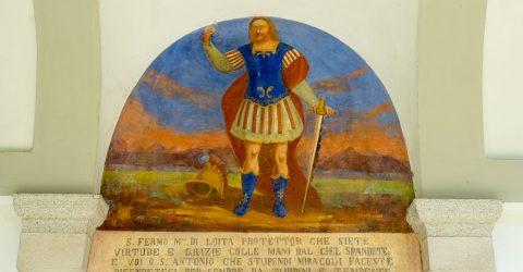 Loita – Affresco di San Fermo